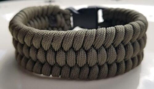 OD Green Olive Drab Trilobite Weave Survival Wear Handmade Paracord Bracelet