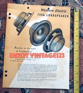 Altec-Lansing-755A-Western-Electric-Vintage-Full-Range-Speaker-Brochure-Ad-Paper