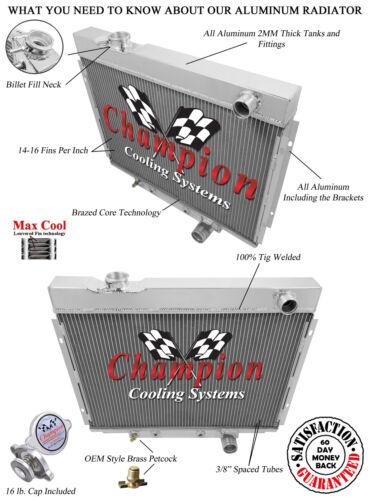 1964 1965 1966 Ford Galaxie 3 Row Champion Advanced All Aluminum Radiator