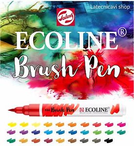 Royal-Talens-ECOLINE-BRUSH-PEN-pennarelli-acquerellabili-60-COLORI-DISPONIBILI