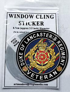 DUKE OF WELLINGTON/'S REGIMENT WINDOW CLING STICKER  8.7cm Diameter VETERAN