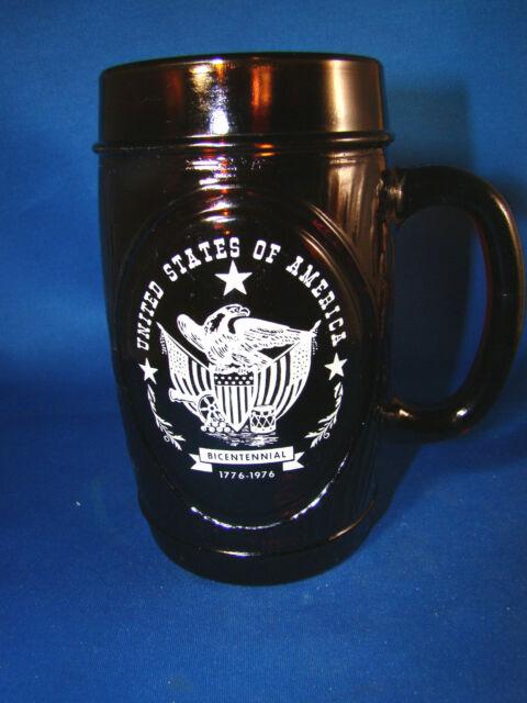 Glass Barrel Cup Mug United States of America Bicentennial 1776-1976 Eagle @25