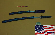 "1/6 Samurai Katana Japanese Swords Set For 12"" Hot Toys PHICEN Male Figure ❶USA❶"