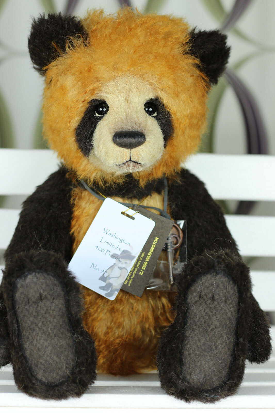 Bnwt Limited To 400 Charlie Bears Washington Mohair Isabelle Collection