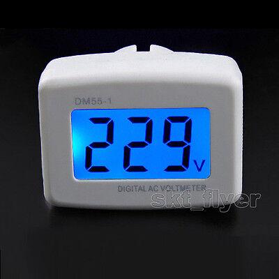 UCTRONICS Flat US Plug AC 80-300V LCD Digital Voltmeter 220V Panel Voltage Te...