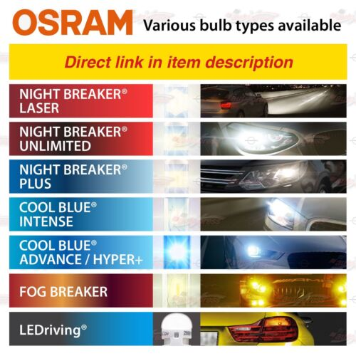 H4 OSRAM COOL BLUE ADVANCE Scheinwerfer Lampen 5000K MEGA Weiß Duo Box 64193CBA