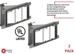 Arlington LVS3 3-Gang Screw On Low Voltage Mounting Bracket for New Construction