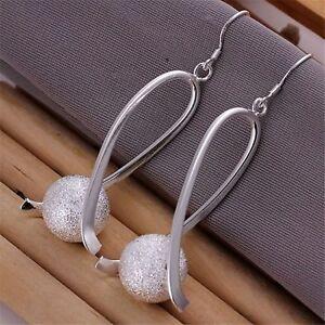 ASAMO-Damen-Ohrhaenger-mit-Kugel-Ohrringe-925-Sterling-Silber-plattiert-O1133