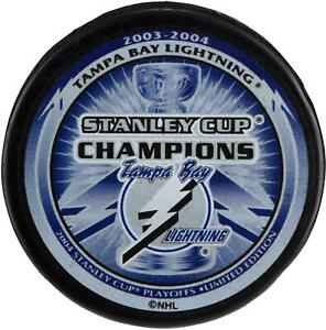 Tampa-Bay-Lightning-Unsigned-2004-Stanley-Cup-Champions-Logo-Hockey-Puck
