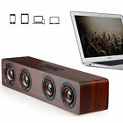 Universal 4 Trumpets 12W High Power Wooden Stereo Bluetooth Speaker for iphone