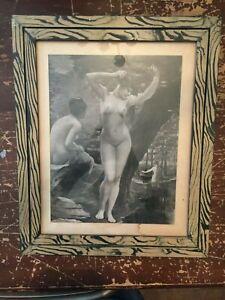 Vintage-Jean-Benner-French-Nudes-Art-Print-Framed