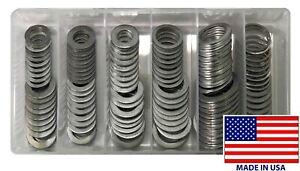 120 Piece Aluminum Oil Drain Plug Gasket Assortment Washer Kit - 12 Sizes - USA