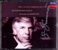Christoph von DOHNANYI Signed BRUCKNER Symphony No.3 & 8 Cleveland Orchestra 2CD