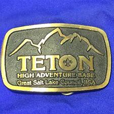 Boy Scout Teton High Adventure Base Belt Buckle Great Salt Lake Council BSA