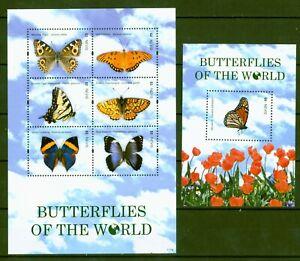 Nevis 2011-papillons Lépidoptères Papillon Butterflies - 2561-66 + Bloc 302 Luxuriant In Design