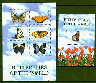 SchöN Nevis 2011 - Schmetterlinge Lepidoptera Falter Butterflies - 2561-66 + Block 302
