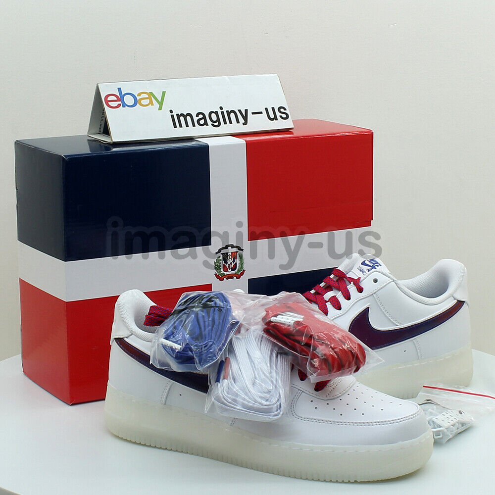 NIKE BQ8448-100 AIR FORCE 1 LOW DE LO MIO WHITE IN HAND