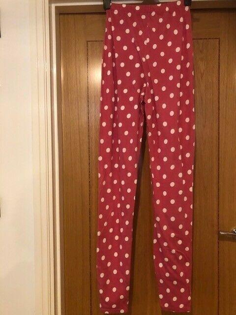 BENETTON Women's Pink/White Spot Leggings
