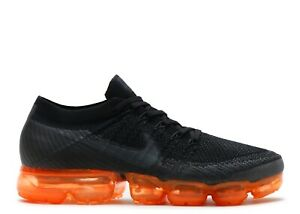 034a609f38c5f Image is loading Nike-Air-VaporMax-Flyknit-Anthracite-Black-Rush-Orange-