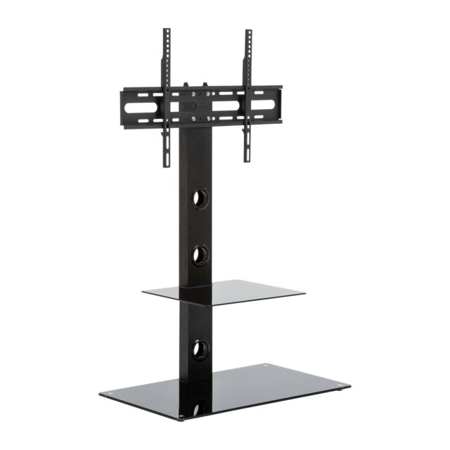 Floor Tv Stand With Mount For 32 To 55 Inch Flat Screen Tv S Black