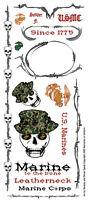 Rub On Transfer United States Army Marines Scrapbook Sticker Uniform Military