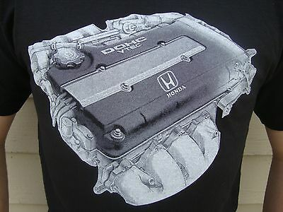 Honda Integra Civic Acura B-Series Engines T-Shirt.JDM DOHC VTEC new rare