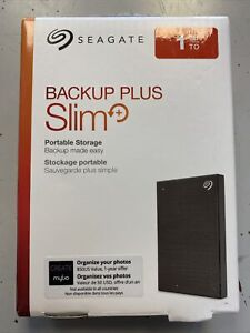 Seagate Backup Plus Slim Portable 1TB External STHN1000400 Hard Drive - Black