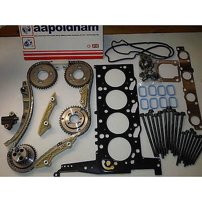 FORD TRANSIT MK6 2.4 Di TDCi DIESEL TIMING CHAIN KIT + HEAD GASKET SET & BOLTS