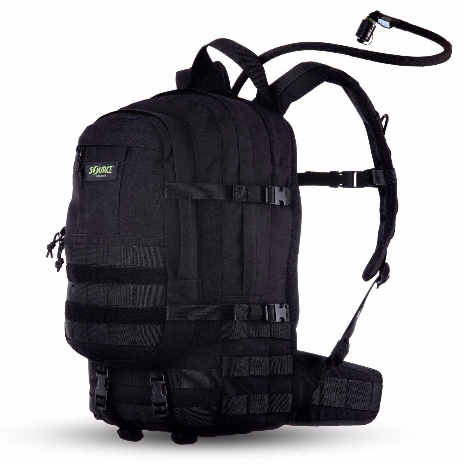 Fuente de carga de 20 Litro de Asalto Táctico De Hidratación Pack Negro