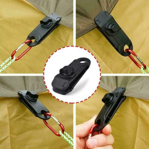 10pcs Awning Clamp Tarp Clips Snap Hangers Tent Camping Survival Tool Tight V0N1