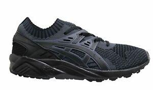 Asics Gel-Kayano Knit Schwarz Textil Schnürschuhe Herren Running Sneaker h705n 9590