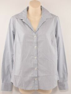 JAEGER-Women-039-s-Cotton-Shirt-White-amp-Blue-Striped-size-UK-10