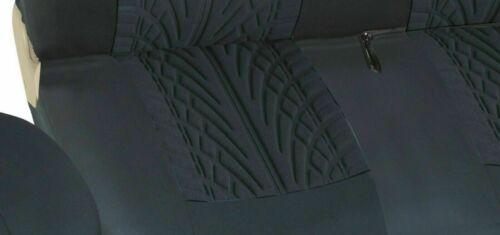 2+1 vordere Sitzbezüge Schonbezüge Schutzbezüge schwarz Stoff mit Rauteprint