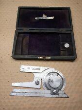Brown Amp Sharpe 496 Machinist Universal Bevel Protractor Thumb Pinion Case 6