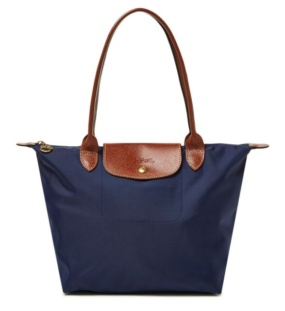 Authentic Longchamp Le Pliage Medium Nylon Tote 2605089556 Navy for ... f1930886c5