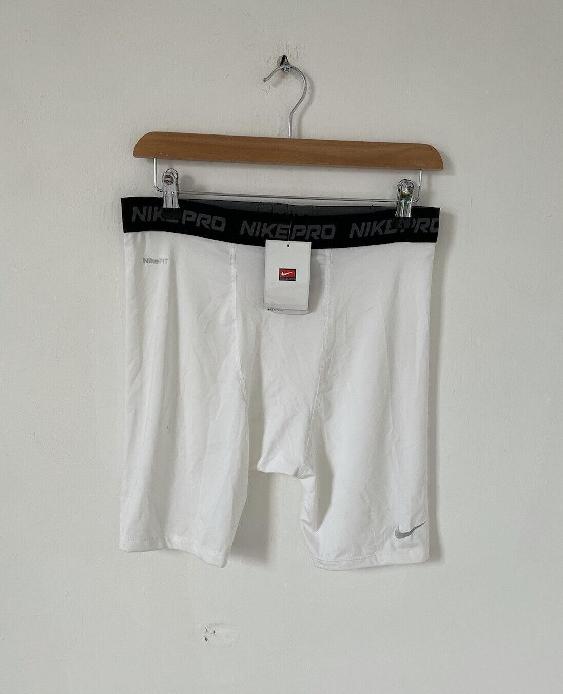 NEW Nike Pro Tight White Shorts Football Active Workout Size XL