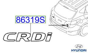 Genuine Hyundai IX35 Emblem CRDi 863222S000