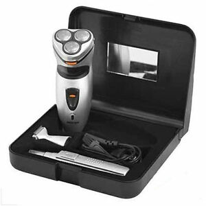 PRITECH-3-IN-1-SHAVER-amp-TRIMMER-MENS-ROTARY-SHAVER-SET-WITH-HAIR-NOSE-TRIMMER