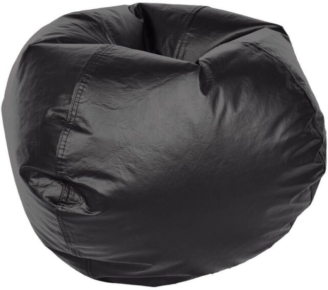 Load N/' Lounge  Adult Black Vinyl Bean Bag Cover Only