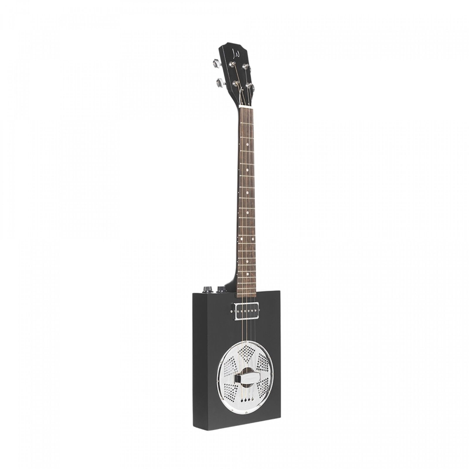 J.N Guitars CASK-PUNCHCOAL Acoustic Resonator Sapele Cigar Box Guitar