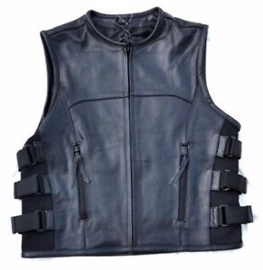 Gilet-jacket-en-Cuir-Style-Pare-Balle-S-a-3XL-style-sons-of-anarchy-biker