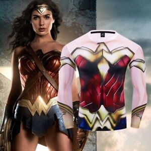 Superhero-Wonder-Woman-Costume-Cosplay-Compression-Tights-Quick-Drying-T-shirt