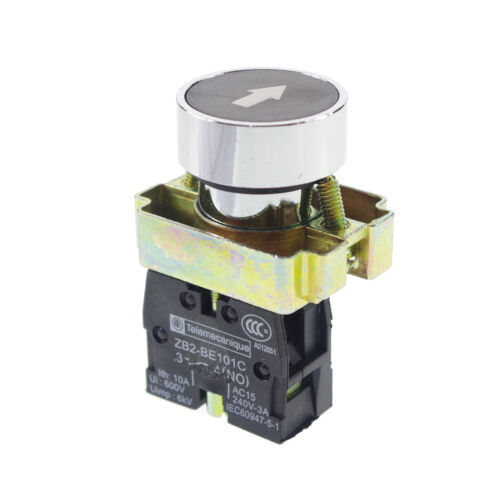 1 Normal Open XB2BA3351C Momentary Flush Pushbutton switch With Arrow Mark