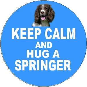 2-English-Springer-Spaniel-Dog-Car-Stickers-Keep-Calm-amp-Hug-By-Starprint