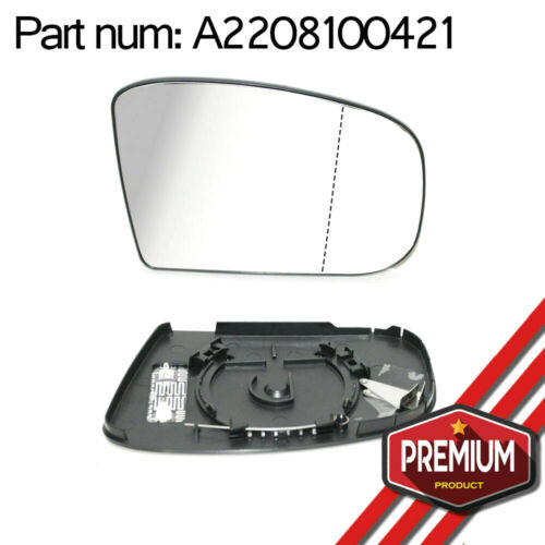 Right Side Wing Mirror Glass Heatable Wide Angle For Mercedes Benz S Class W220