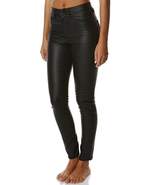 Lee Women's Hi Licks Skinny Stretch Denim Jeans Polished Black RRP $149.95
