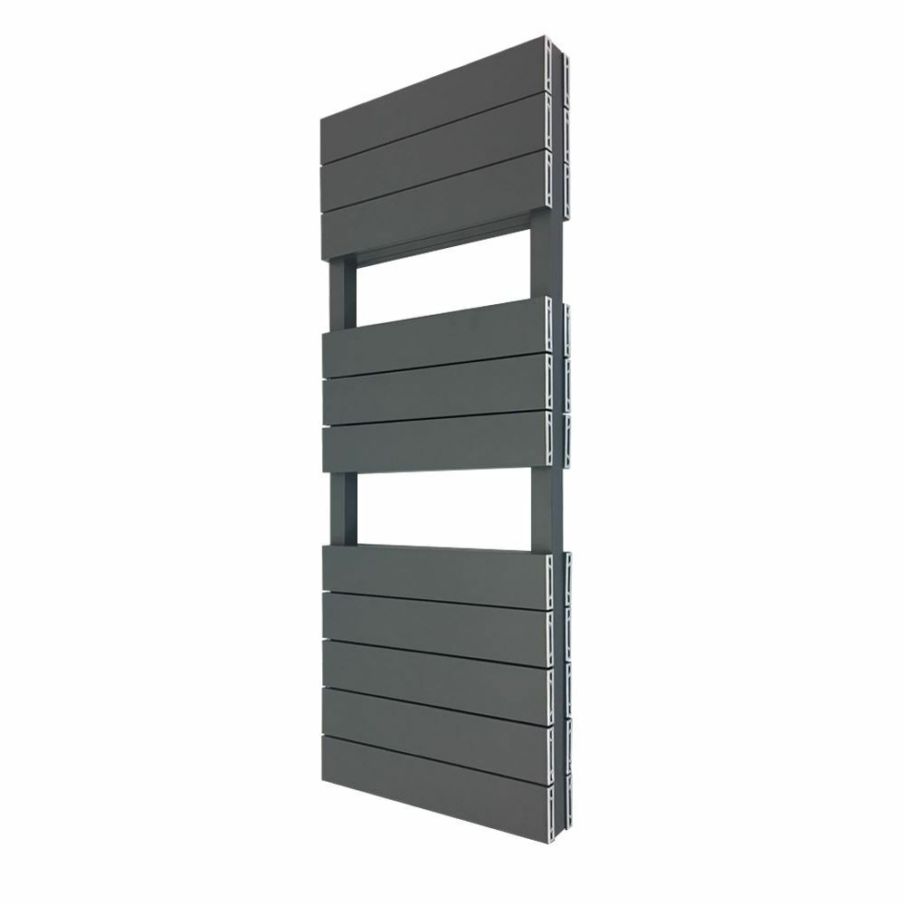 500mm x 1200mm  Viceroy  DOUBLE Anthracite Aluminium Heated Towel Rail 5258 BTUs