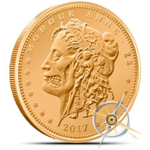 """1X Zombuck /""""Morgue Anne/"""" Copper Round Bullion Coin free airtite"""