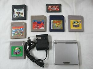 L284 Nintendo Gameboy Advance SP console Platinum Silver game Adapter Japan GBA