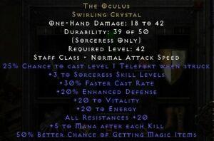 Diablo 2/ D2R/ DIIR/ Diablo 2 Resurrected: SOFTCORE 1x The Oculus